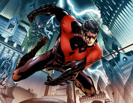 Nightwing Sample Color Adriano Augusto by adrianocastro
