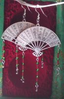 Touch of The Orient Earrings by AdnilemsAdornments