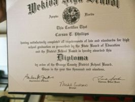 My Wekiva high diploma  4 years in the making
