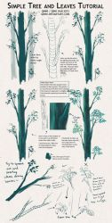 Tree and Leaves Tutorial + Tips by Qinni