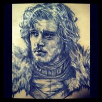 Jon snow by lullabymydreams