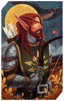 Commission: Sindanor tarot by RedlyJester
