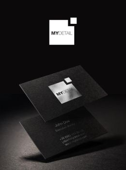 MyDetail logo and business cards by 5tag