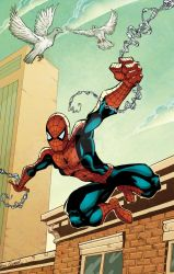 Swinging Spiderman by GibsonQuarter27