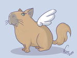 Feline Winged Capybara by Fificat