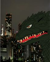 Anime Godzilla 2000 in Tokyo by Ltdtaylor1970