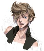 Prompto sketch by Brookkey