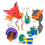 Friends' Mascots and Fursonas by SpellboundFox