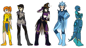 TMNT 2K12 Crystal Gems (AU) Females by ITODrawings