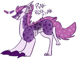 [adopt] Punk Rock Hyena - skelest -closed by Herokittykat