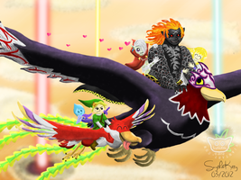 Zelda: My Ride's Better Than Yours by ScythicKitty