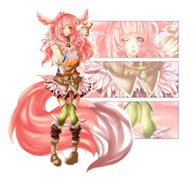 Pink Kemonimimi Adopt [CLOSED] by Artemis-adopties