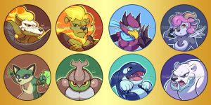 Rivals of Aether buttons! by NekoCrispy