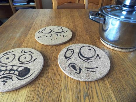 Pan Coasters by BATTLEFAIRIES