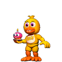 C4D|FNAFWORLD|GIF|Chica by YinyangGio1987