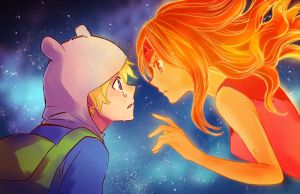 Finn and Flame Princess by Zoo-chan