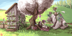 Tree Loot #3 - Building the Shrine by griffsnuff
