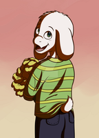 Asriel Dreemur by alexiadraws