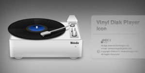 Vinyl Disk Player Icon by AndexDesign