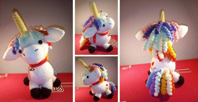 Amigurumi: Lilie das Einhorn/Lilie the unicorn by EnricoRiver