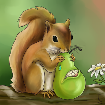 Biting Squirrel by IsaCrisis