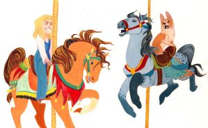 Lyn and Loui carousel by captainhawkeh