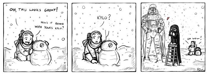 Kylo and Rey - Do You Wanna Build a Vader? by Tamagi