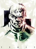 Sketch: Doomguy by Teoft