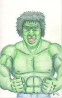 Lou Ferrigno Hulk sketch by mayorlight