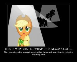 Applejack Motivational by CrossoverPrincess