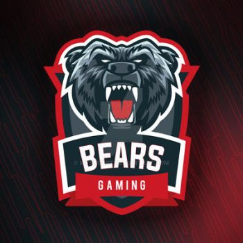 Grizzly Bear Vector Gaming Logo by mystcART