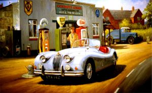 Jaguar XK120 by Artistjeffries
