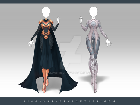 (CLOSED) Adoptable Outfit Auction 179 - 180 by JawitReen