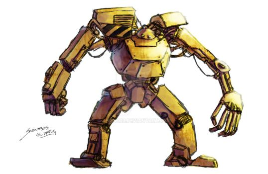 Mech Concept [Collab w/ PowersWithin] by Snow323