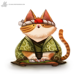 Daily Painting #920 Sushi Chef by Cryptid-Creations