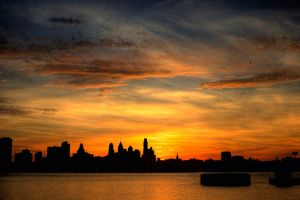 Philly Sunset by JoeyDeMarco