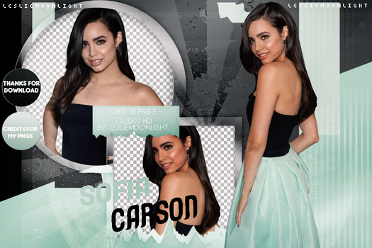SOFIA CARSON|PACK PNG 05| LESLIE MOONLIGHT by LeslieMoonlight