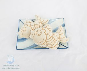 Taiyaki Embroidered Plush by dollphinwing