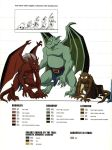 Gargoyles size and color chart - 3 by TheBarracuda