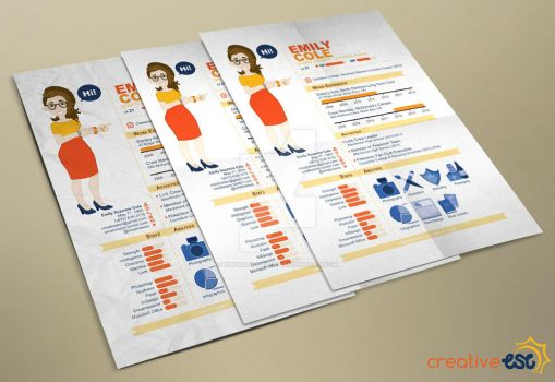 Infographic Resume by EmersonWolfe