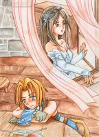 Final Fantasy IX - Queen and Thief by oOFlorianeOo