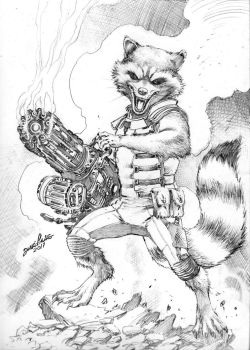 Commission Rocket Raccon JL 2017 by JoseLuisarts
