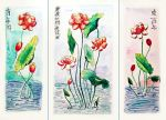 Lotus triptych by Miriele