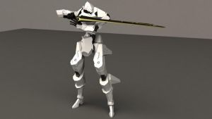 Mecha -Ambient Armor- with sword -Anguirel- 2 by JDVN7
