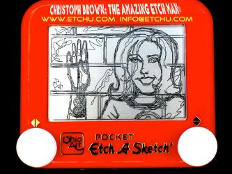 2.3 Invisable Girl:woman Etch A Sketch by EtchUProductions