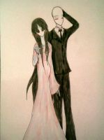 Slenderman and Dream of the Blood Moon by JaxAugust