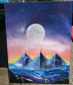 blue pyramids by HornEric