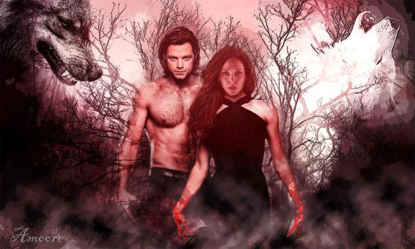 Bucky and Wanda (werewolves) by amoore450