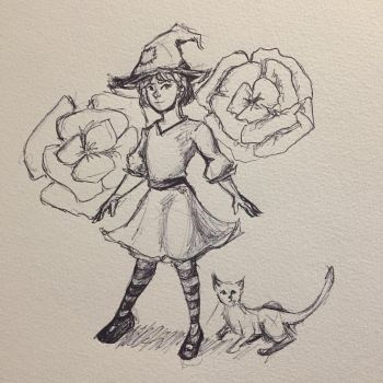 Lil Marigold Witch by NamirHunting