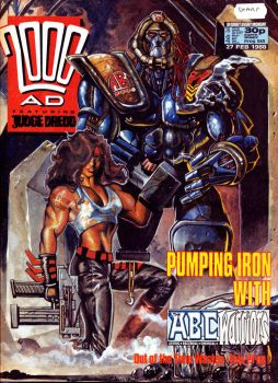 2000ad cover circa 1988 by LiamSharp